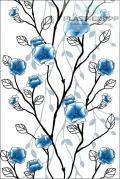 Панель ПВХ с термопечатью, 205 Голубое дерево, 3000x250x8 мм